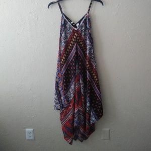 Paisley print scarf dress
